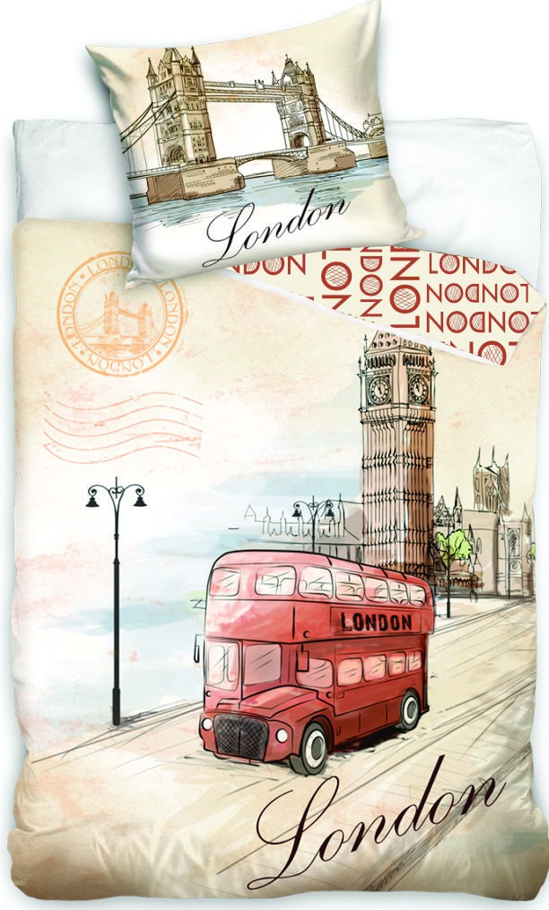Dětské bavlněné povlečení fototisk London bus