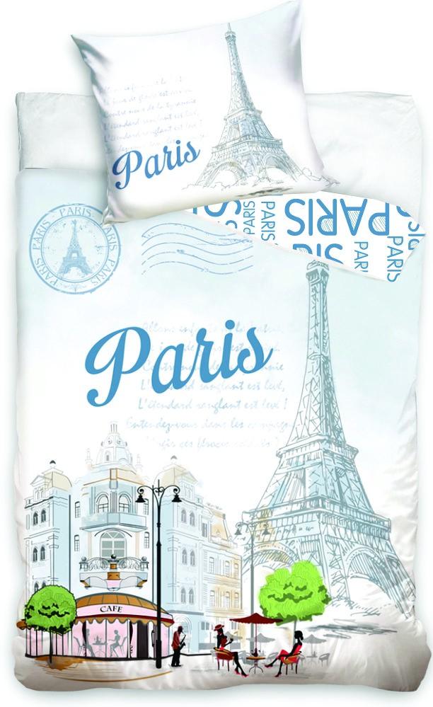 Dětské bavlněné povlečení fototisk Paris Tower