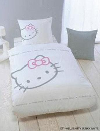 Dětské bavlněné povlečení - Hello Kitty blinky white