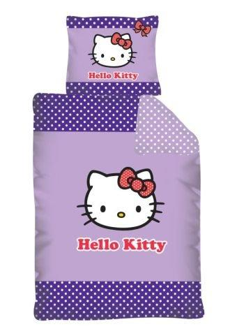 Dětské bavlněné povlečení - Hello Kitty fialová