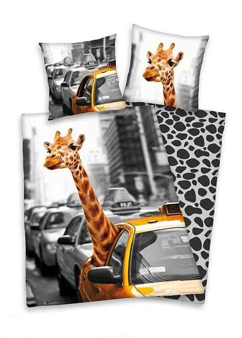 Dětské bavlněné povlečení Herding New York žirafa