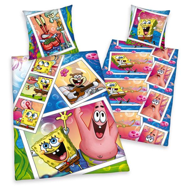 Dětské bavlněné povlečení Herding Sponge Bob foto