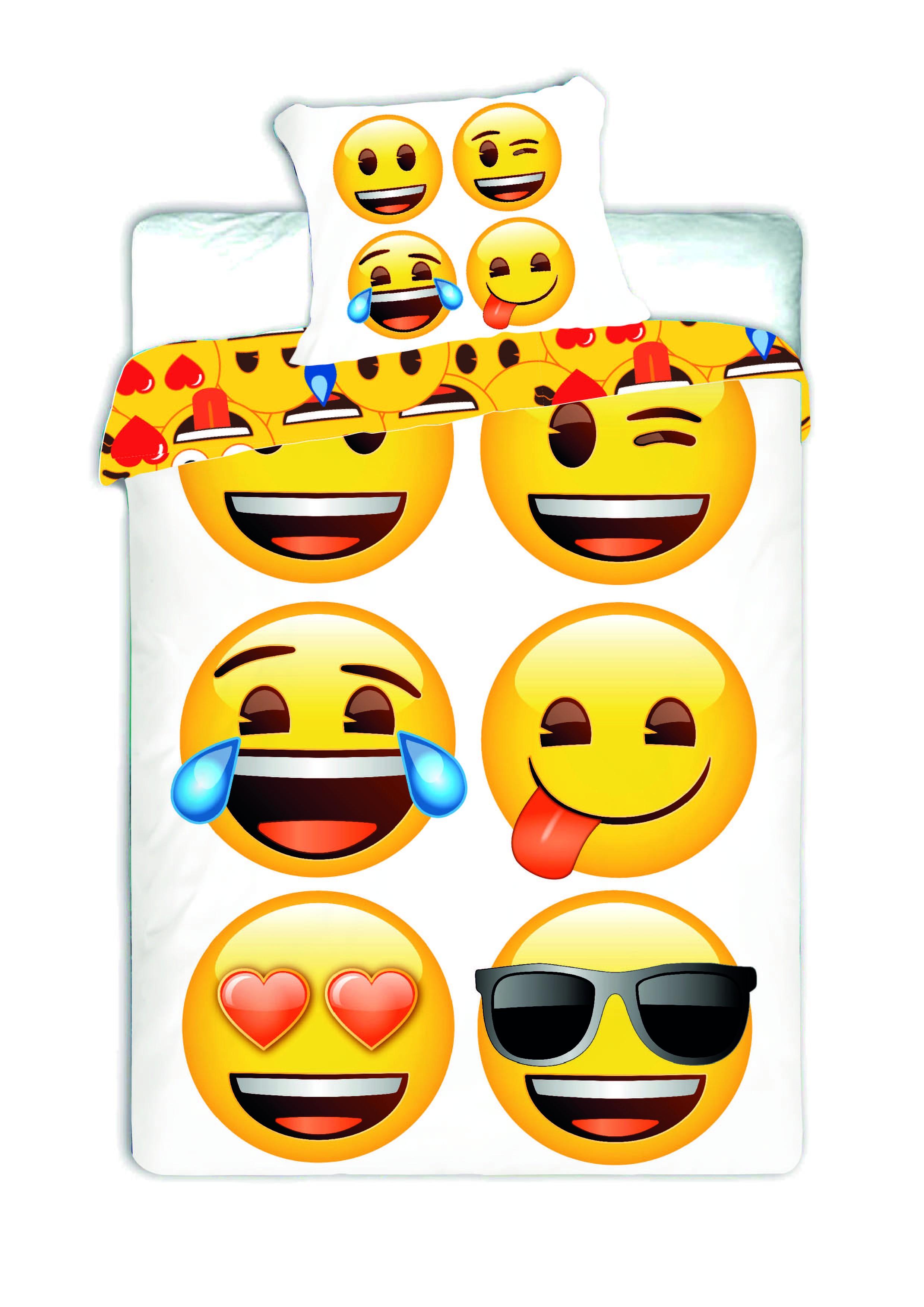 Dětské bavlněné povlečení Jerry Fabrics Emoji