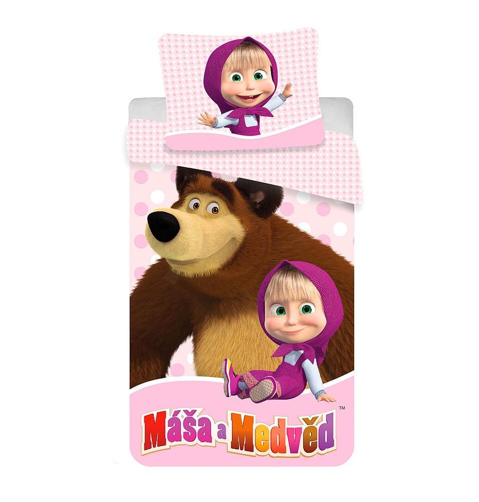 Dětské bavlněné povlečení Máša a Medvěd 02