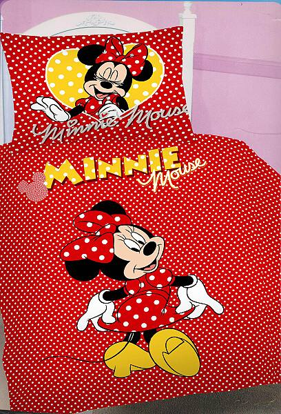 Dětské bavlněné povlečení - Minnie red