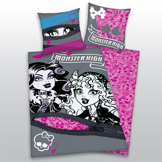 Dětské bavlněné povlečení - Monster high pink