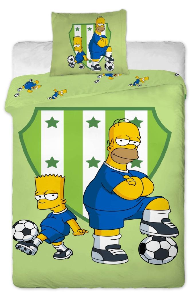 Dětské bavlněné povlečení Simpsons Bart a Homer