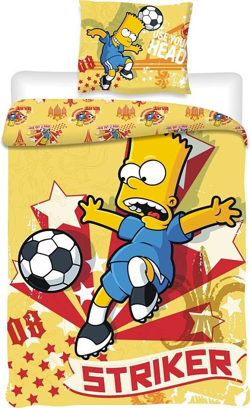 Dětské bavlněné povlečení Simpsons Bart fotbal