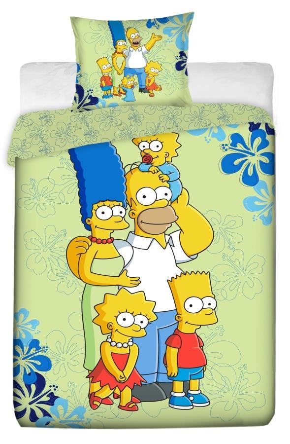 Dětské bavlněné povlečení Simpsons family 2016