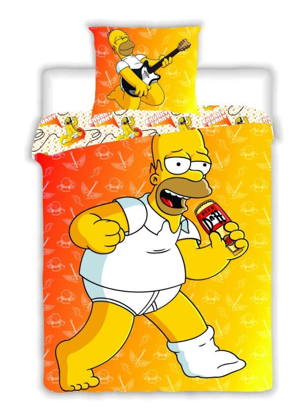 Dětské bavlněné povlečení Simpsons Homer 2015