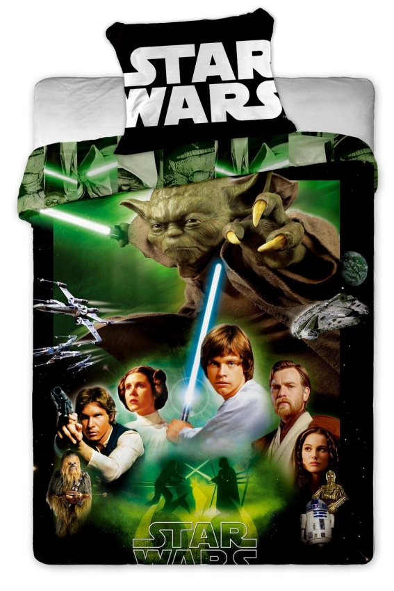 Dětské bavlněné povlečení Star Wars green