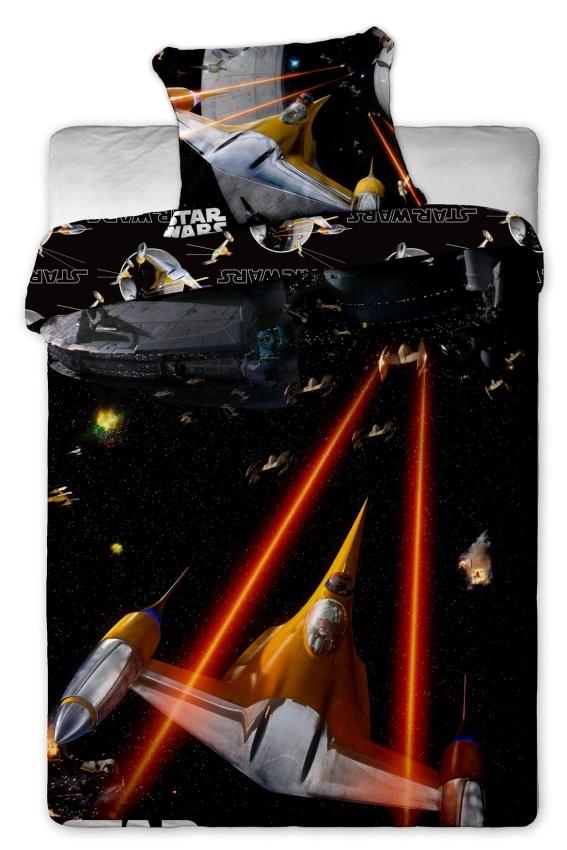 Dětské bavlněné povlečení Star Wars spaceships