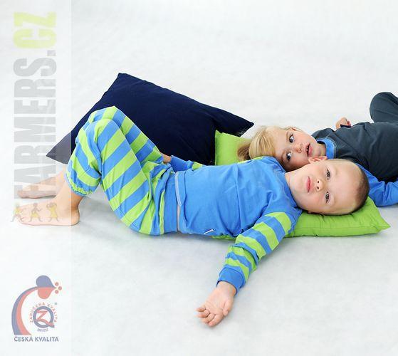 Dětské bavlněné pyžamo Farmers EARTH pruhované