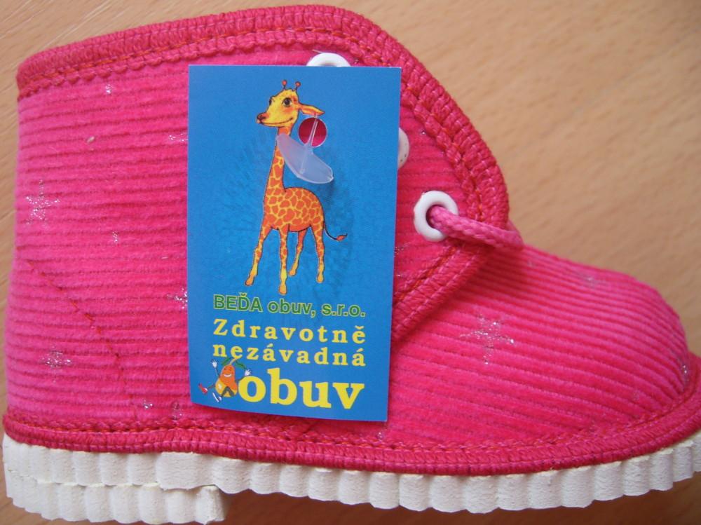 Dětské domácí papuče Béďa - velikost 11,5 - 15