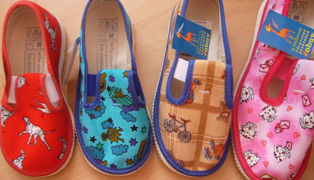 Dětské domácí papuče Béďa - velikost 15,5 - 23