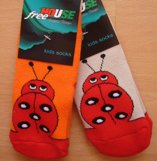 Dětské froté ponožky Novia - beruška