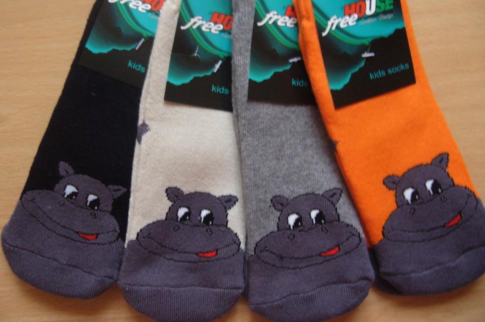 Dětské froté ponožky Novia - hrošík