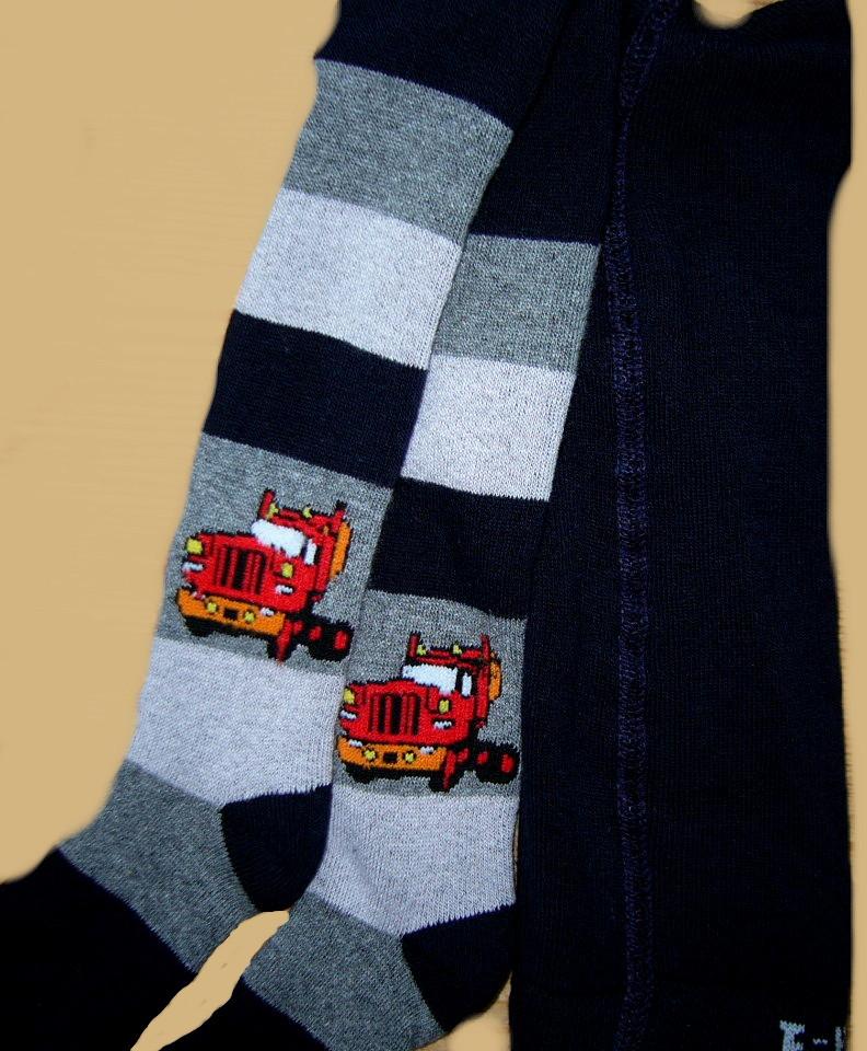 Dětské froté punčocháčky Design Socks - Kamion