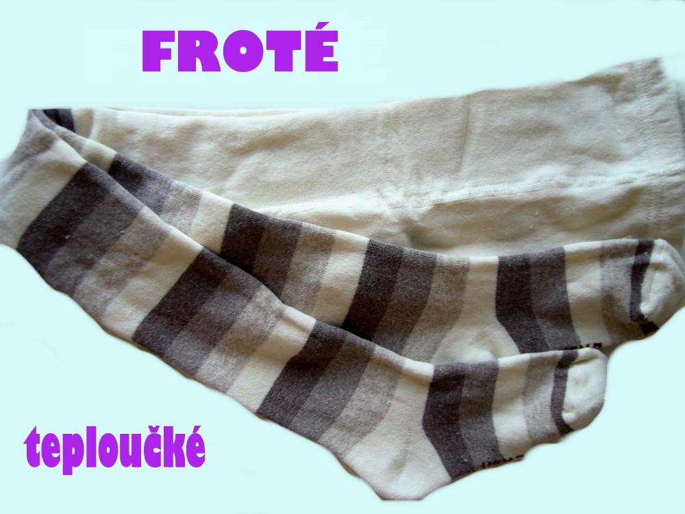 Dětské froté punčocháčky Design Socks - šedý proužek