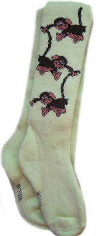Dětské FROTÉ punčocháčky Novia - opičky