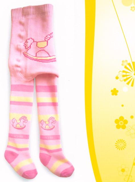 Dětské FROTÉ punčocháčky - ZOO Koníček růžový