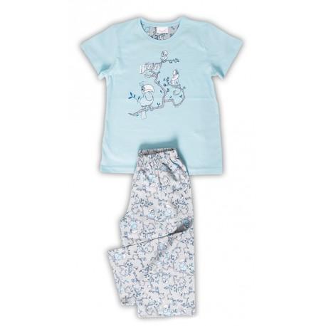 Dětské kapri pyžamo Vienetta Secret Papoušci