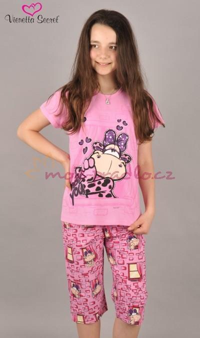 Dětské kapri pyžamo Vienetta Secret Tele v okně