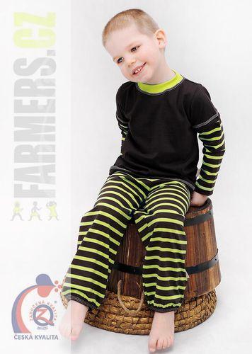 Dětské lehké kalhoty Farmers - paspula - CHOCO/kiwi