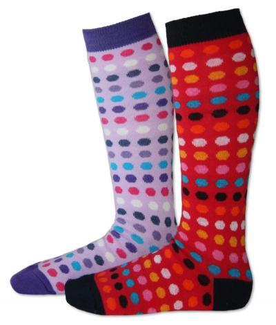 Dětské podkolenky Design Socks - puntík