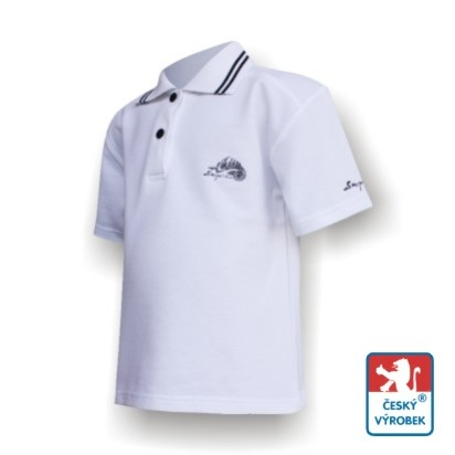 Dětské polo triko Suspect Animal krátký rukáv bílá/černá Bavlna