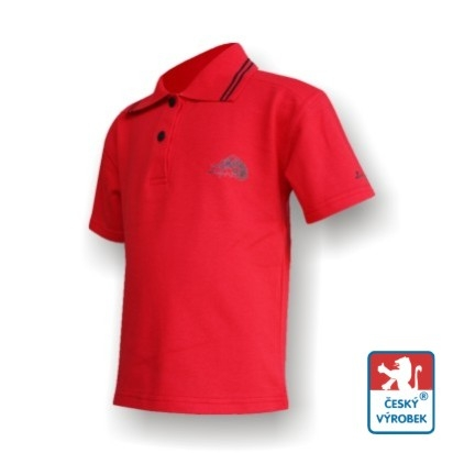 Dětské polo triko Suspect Animal krátký rukáv červená/černá Bavlna