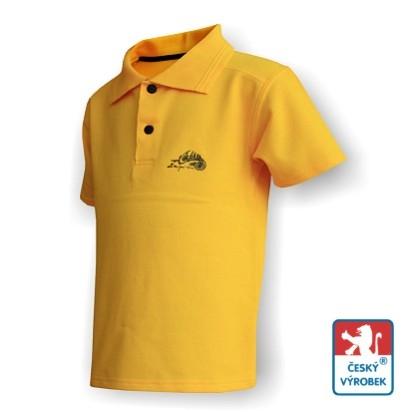 Dětské polo triko Suspect Animal krátký rukáv žlutá/černá Bavlna