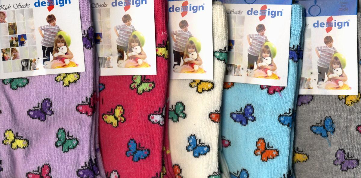 Dětské ponožky Design Socks - motýlek