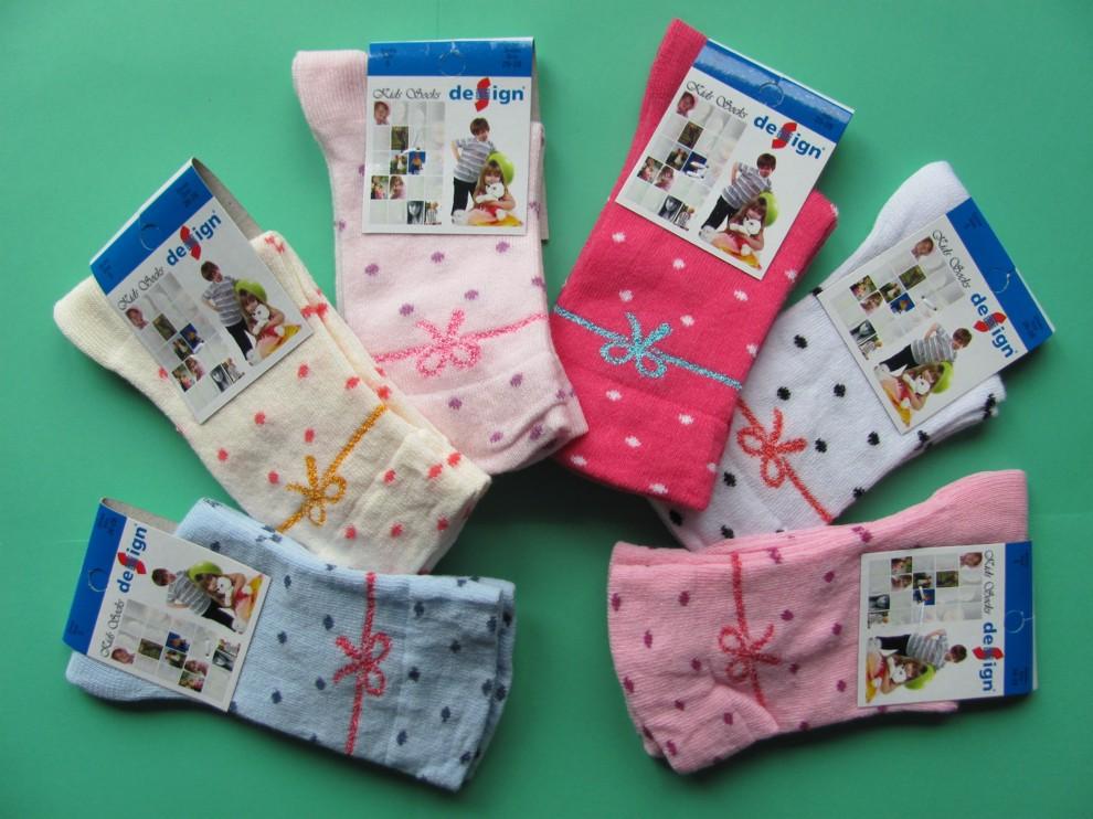 Dětské ponožky Design Socks - puntík mašlička