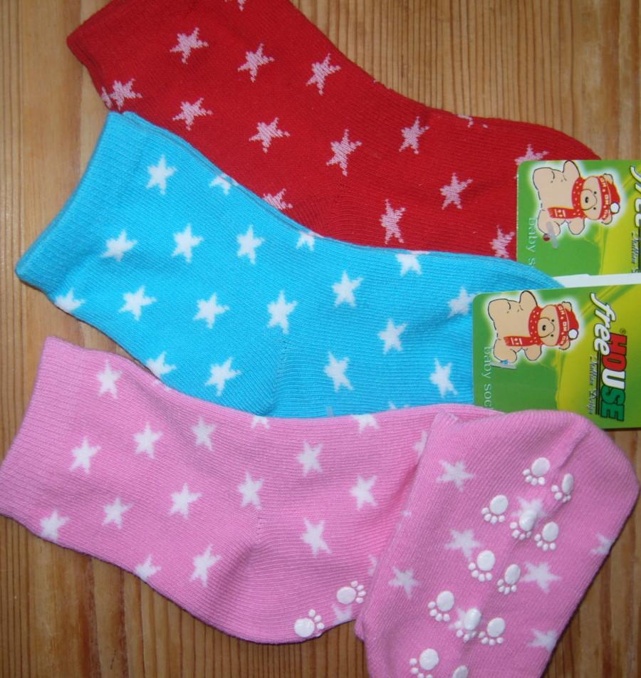 Dětské ponožky Novia - hvězdičky a protiskluz