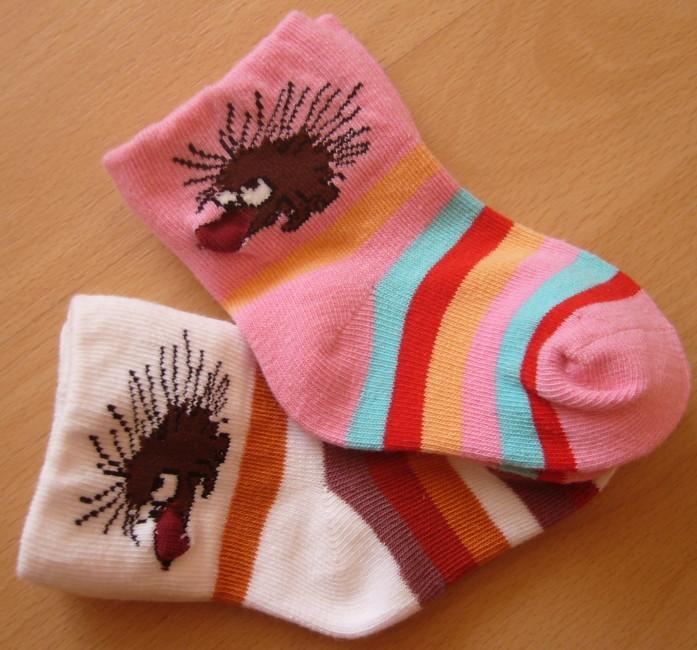 Dětské ponožky Novia - ježek a proužek