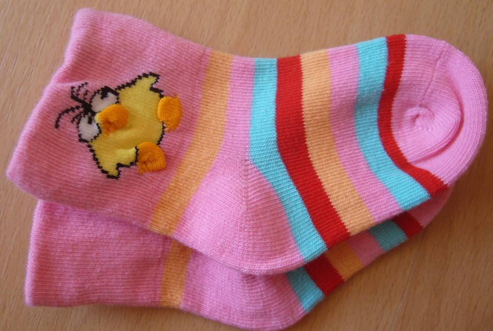 Dětské ponožky Novia - kuřátko  a proužek