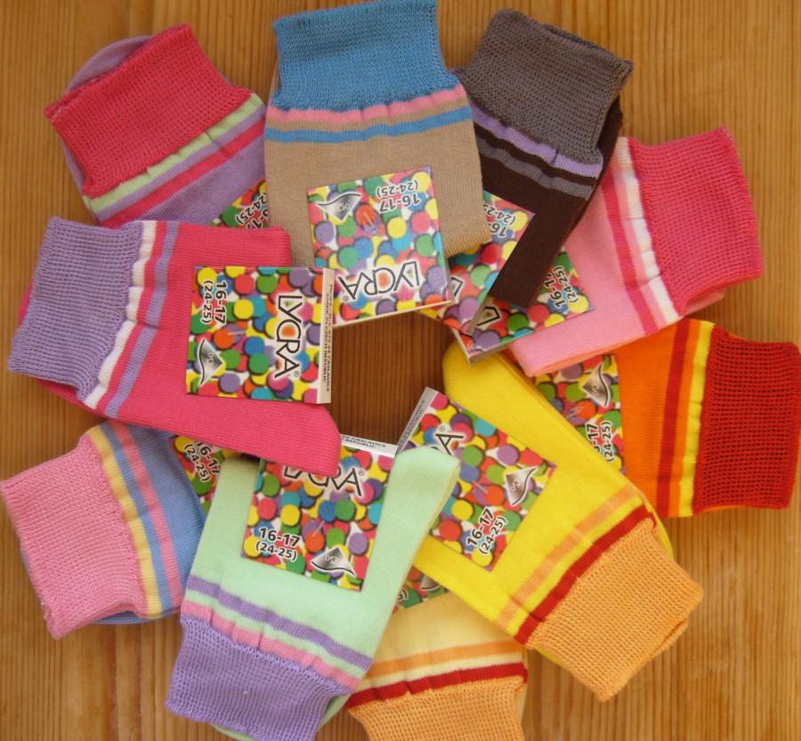 Dětské ponožky Novia - lentilky dívčí - velikost 16-23