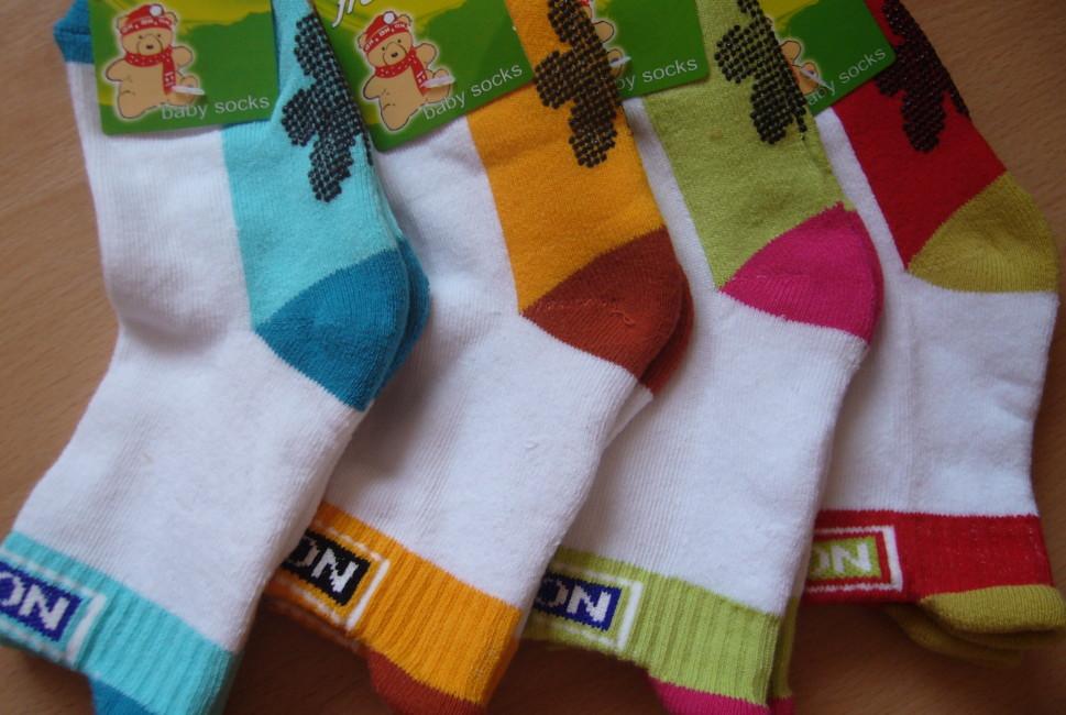 Dětské ponožky Novia - Novia s jazykem a protiskluzem