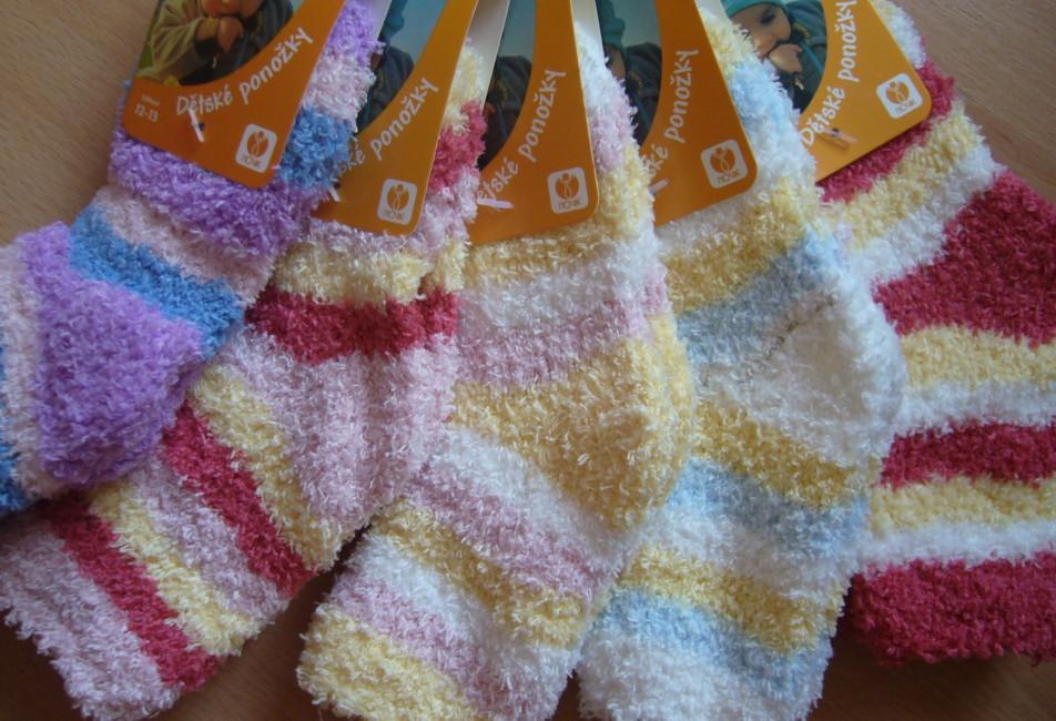 Dětské ponožky Novia - peří s proužkem