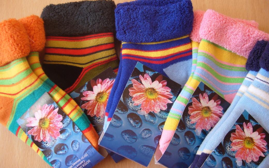 Dětské ponožky Novia - proužek + froté lem