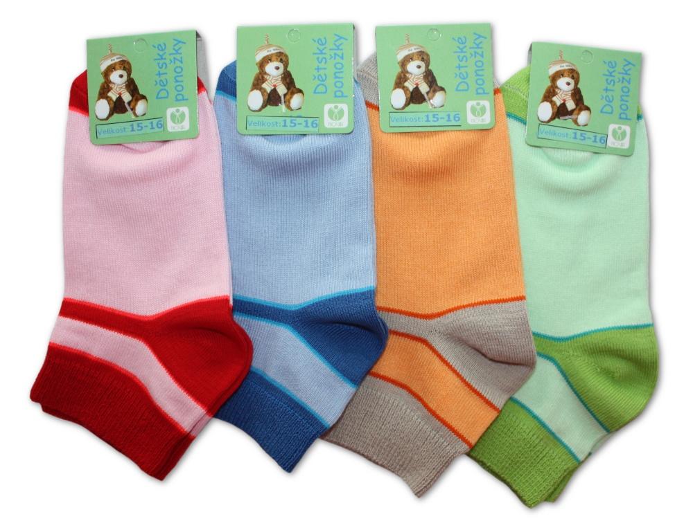 Dětské ponožky Novia s vyšším lemem - 3 páry v balení