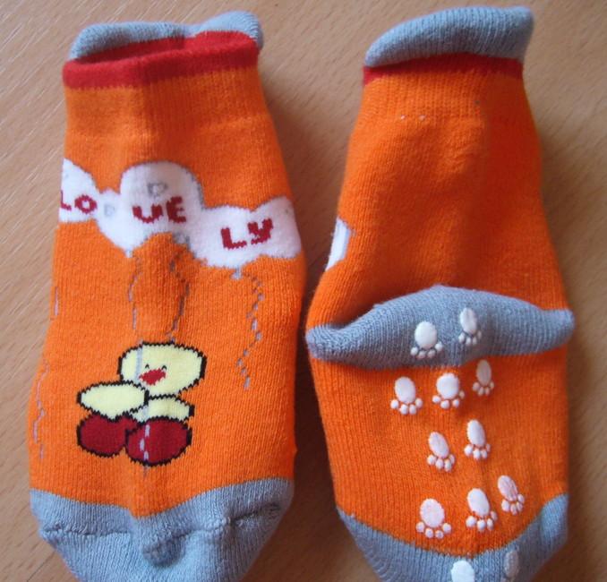 Dětské ponožky Novia - sněhulák s jazykem, protiskluz
