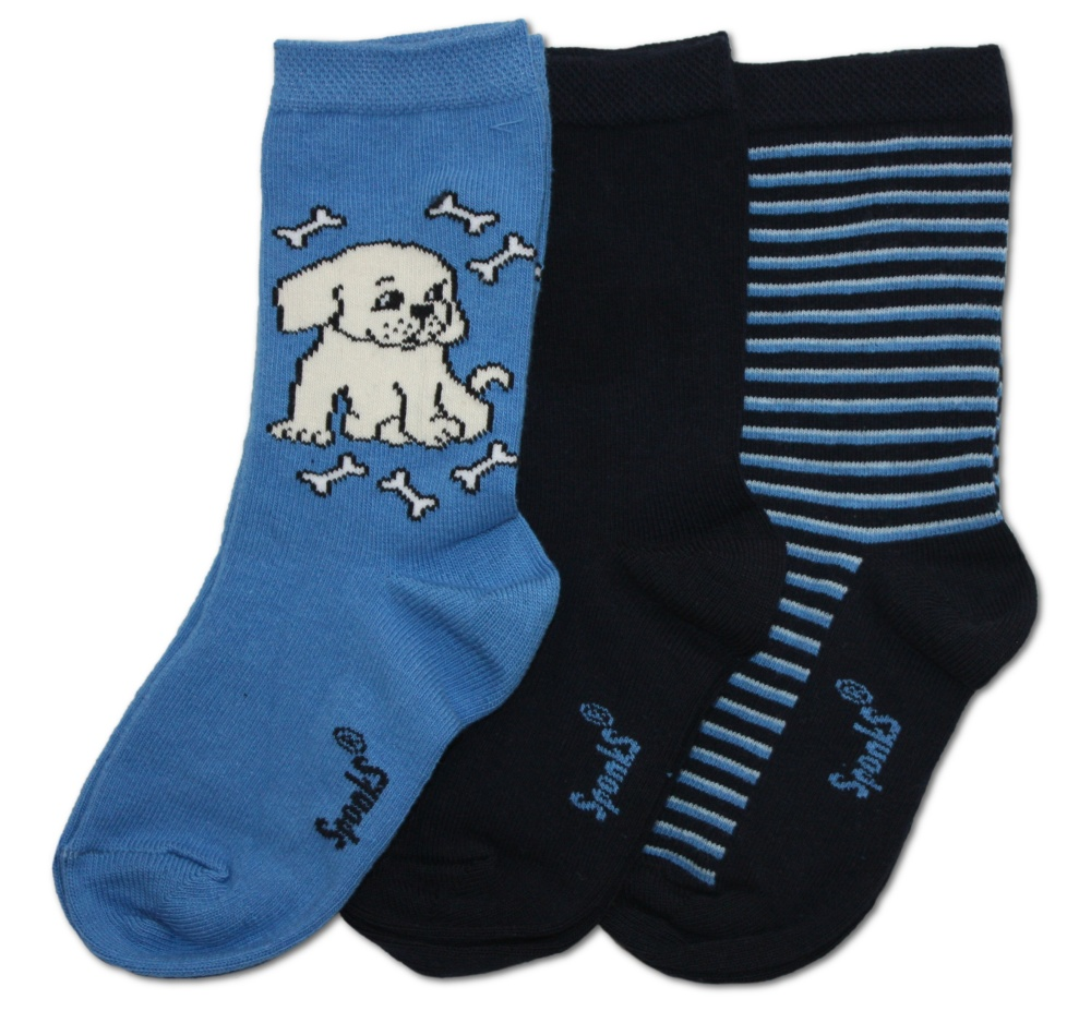 Dětské ponožky Sponks - modrá - 3 páry v balení