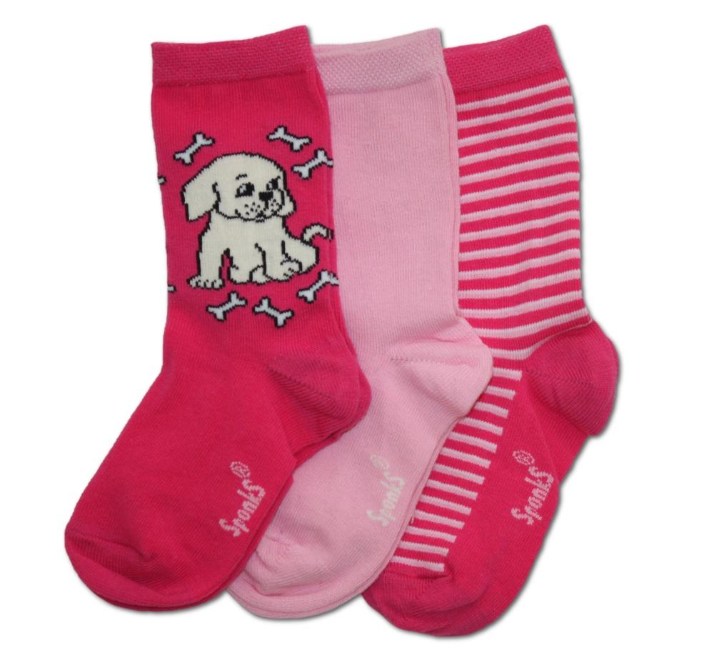Dětské ponožky Sponks - růžová - 3 páry v balení