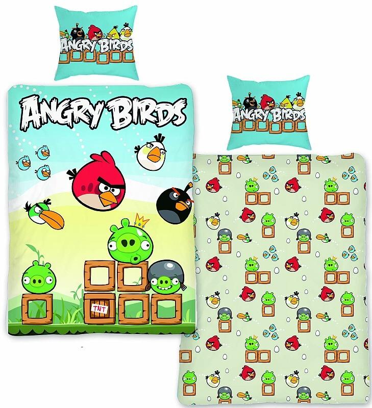 Dětské povlečení bavlna Angry birds 004