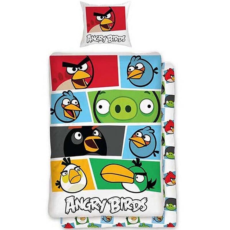 Dětské povlečení bavlna Angry birds 009 colour