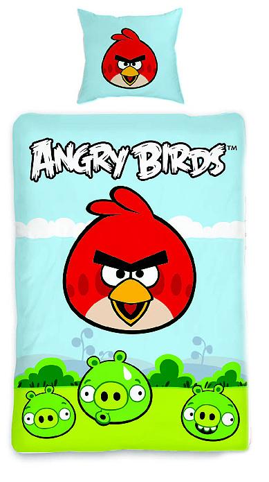 Dětské povlečení bavlna Angry birds 116 a prak