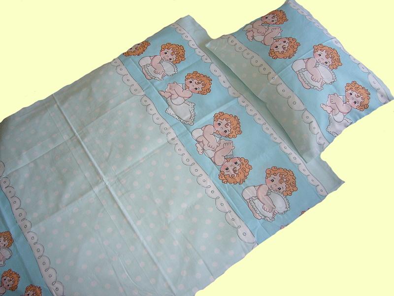 Dětské povlečení bavlna do postýlky - Mimino modré