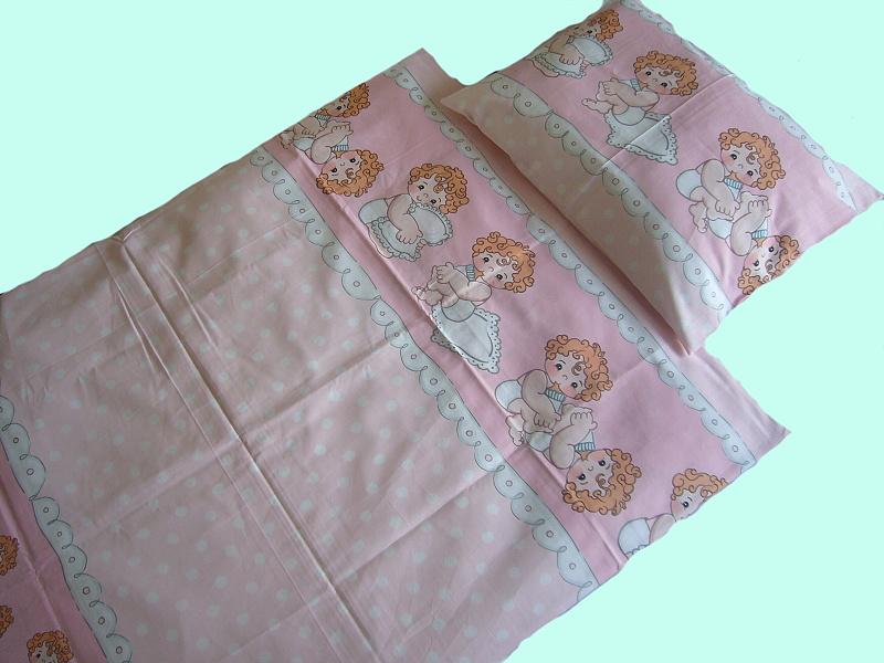 Dětské povlečení bavlna do postýlky - Mimino růžové